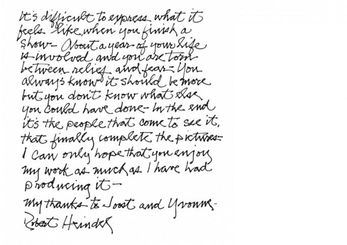 handgeschreven tekst